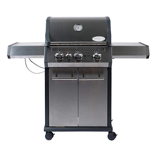SANTOS Gasgrill S-301 mit Seitenkocher, Edelstahl