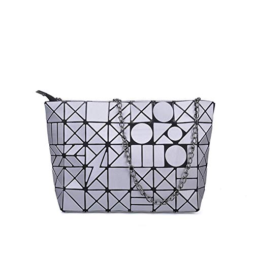 QXbecky Borsa da donna pieghevole opaca borsa ultraleggera diagonale tracolla moda borsa a catena rombica borsa da disegno opaca