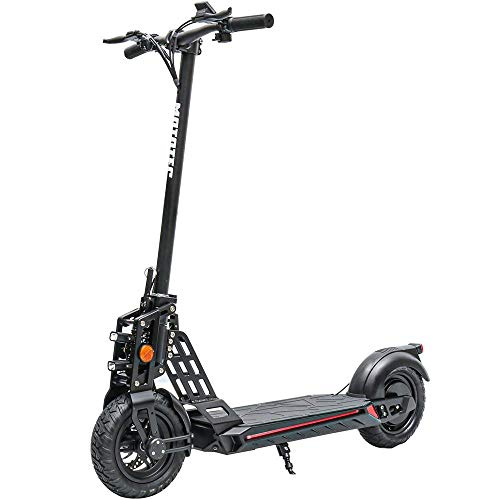TOXOZERS Electric Scooter 500W 48V/13AhLithium Battery - Max Speed 21.7 mph - 10 Inch Pneumatic tire - Foldable City Scooter Adults - Portable Electric Scooter - Commuter Scooter (Black)