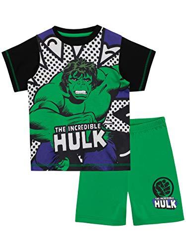 Marvel Jungen Der Unglaubliche Hulk Schlafanzug Grün 116