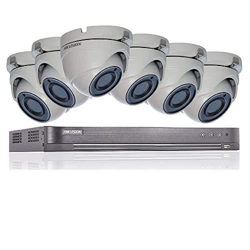 Hikvision 5MP 4K del sistema di sicurezza CCTV DVR 8CH 2TB H.265+ Hik 5MP 2.8mm 6x telecamere esterna di visione notturna kit venditore UK ds-7208huhi-k1ds-2ce56h1t-itm