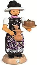 مدخن بخور ألماني الغابة السوداء امرأة مع وعاء القهوة الساخنة، ارتفاع 25 سم / 10 بوصة، ارزجبرجي الأصلي مولر سيفين