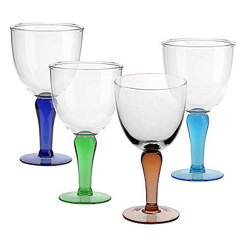4 X Eisschale Dessertschale Eisbecher Glas Campania 4 Farbig 22,5 cm Gelato Vero