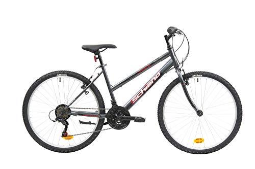 F.lli Schiano Ghost, Bici MTB Women's, Antracite-Rosso, 26''