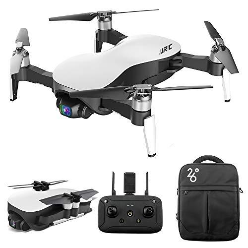Goolsky- JJRC X12 Drone RC sin Escobillas 3 Ejes Inclinación 90° a 0° con Cámara Gimbal Estabilizado de 3 Ejes 12MP 4K Foto Quadcopter Avión Interior al Aire Libre para Adultos 3 Batería