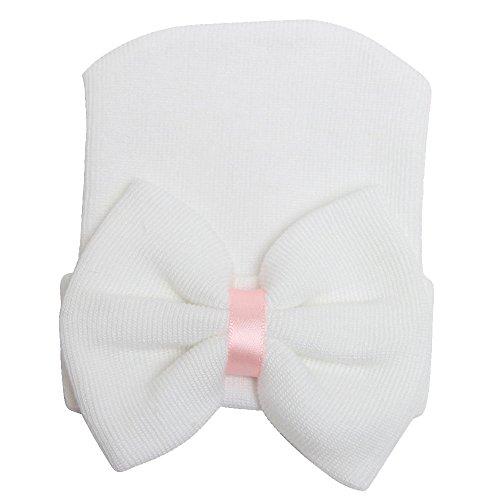 samidy Neugeborene Handmade Hat, Strick Crochet Cap für Babys (0–3Monate), Kleinkinder 'Big Schleife Headwrap
