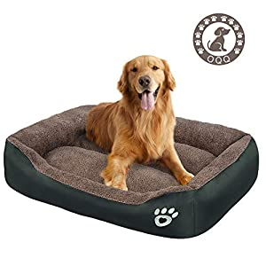 Dog Bed   Super Soft Pet Bed   Machine Washable with Hidden Zipper Design   Breathable Dog Bed with Waterproof Oxford Cloth