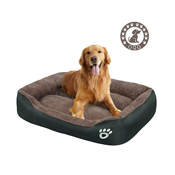 Dog Bed | Super Soft Pet Bed | Machine Washable with Hidden Zipper Design | Breathable Dog Bed with Waterproof Oxford Cloth