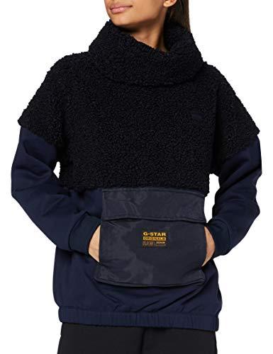 G-STAR RAW Womens Carley High Collar Sweater, Mazarine Blue C454-4213, Large
