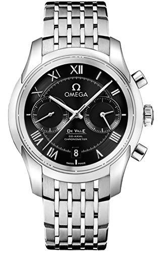 Omega DeVille Reloj para hombre con esfera negra 431.10.42.51.01.001