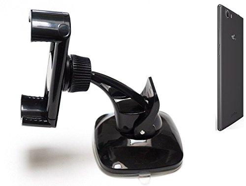 K-S-Trade FürWiko Ridge Fab 4G Kompakte Halterung Windschutzscheibe/Armaturenbrett Schwarz Autohalterung KFZ Halter Scheiben-Halterung Armaturenbrett-Halter Kompatibel Mit Wiko Ridge Fab 4G