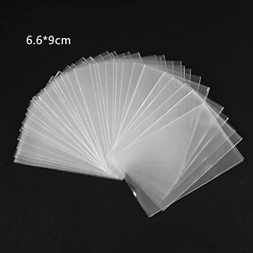 Cuigu Lote de 100 fundas mágicas transparentes para proteger los naipes de los juegos de cartas, como póquer, tarot, Tres Reinos, plástico, transparente, C