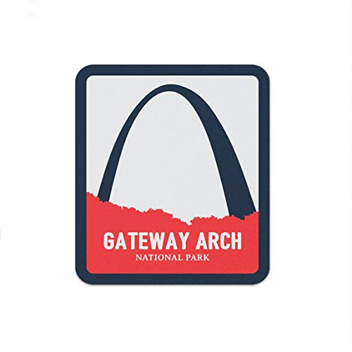 MADI Sticker Gateway Arch National Park Decal for Laptop Car Wall Window USA Stickers (2')