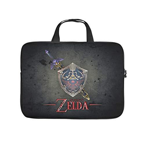 the legend of zelda Laptop bag Pattern Laptop Case Bag Soft Shockproof Laptop Sleeve with Portable Handle for Women Men white 12 zoll