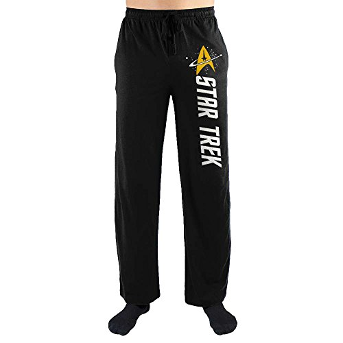 Bluestar Star Trek Emblem Black Quick Turn Sleep Pants (Small)