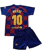FCB Conjunto Camiseta y Pantalón Primera Equipación Infantil Messi del FC Barcelona Producto Oficial Licenciado Temporada 2019-2020 Color Azulgrana