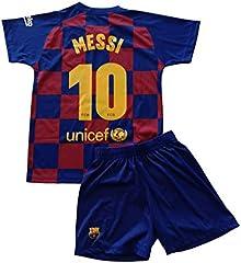 Camiseta y pantalón Messi  1ª Equipación FC. Barcelona 2019/2020 Niño