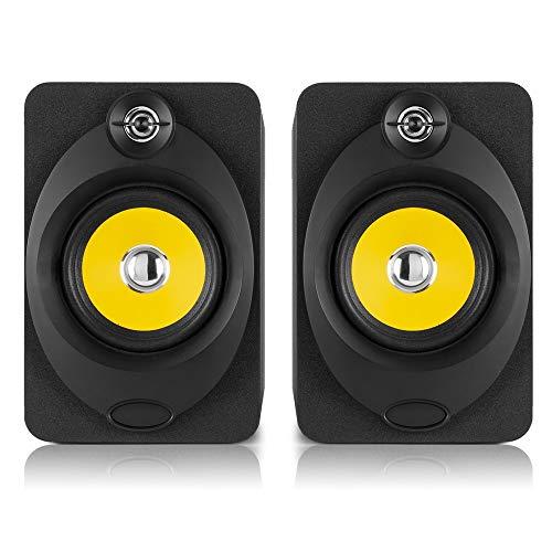VONYX XP50 Active Powered Studio Monitor Speakers 5.25' Desktop DJ Producer...