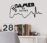 Gamer Am Herzen Zitate Wandaufkleber Videospielzimmer