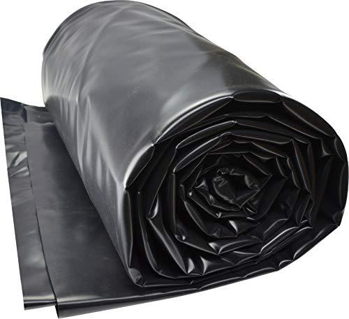 TEICHWERKplan Teichfolie PVC 4 x 4 m schwarz 0,5mm Teich Folie 16 m² Gartenteichfolie Gartenteich Koiteich Bachlauf Plane Pond