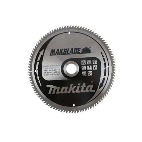 Makita MAKBLADE T 260 mm x 30 mm x 100 kap- en verstekzaag kantoorindeling circulair B-09117