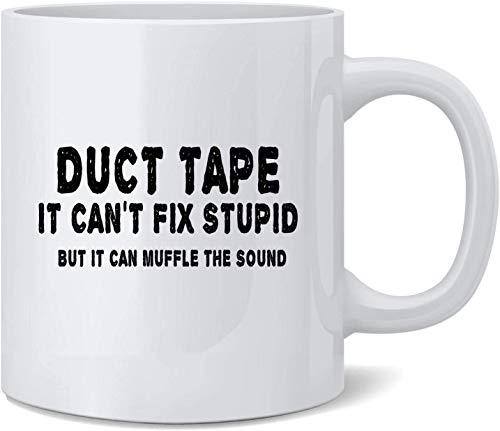 Klebeband kann nicht fix dumm sein, aber dämpft den Ton Keramik Kaffeetasse Kaffeetassen Teetasse Spaß Neuheit Geschenk