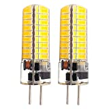 GLMING 3.5W GY6.35 72-5730 SMD LED-Birne G6.35 Bi-pin base AC12V DC12V-24V Silikon-Kristallbirne Super Bright Warmweiss 2 Stück