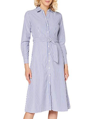 Springfield 5.frq.Vestido Camisero Mi-c/16 Vestito Elegante, Blu (Light_Blue 16), 40 (Taglia Unica:...