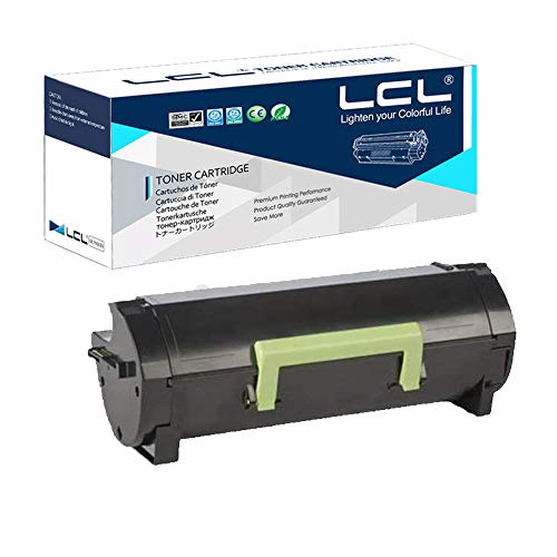 LCL Cartucho de Tóner Compatible 50F2000 50F000G 500G 502 (1Negro) Reempalzo para Lexmark MS310d/MS310dn Lexmark...
