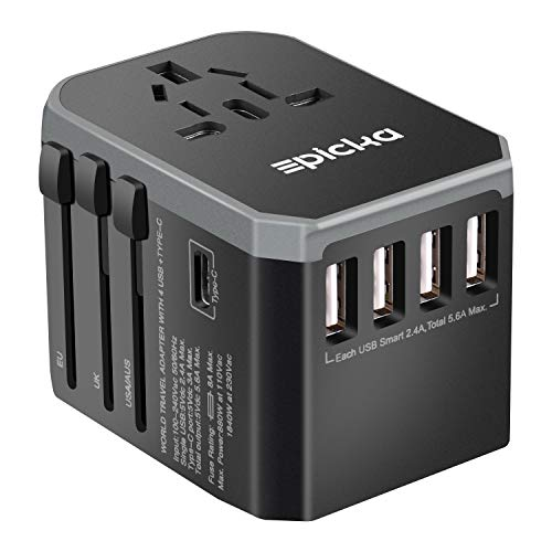 EPICKA Universal Travel Adapter One International Wall Charger AC Plug Adaptor with 5.6A Smart Power...