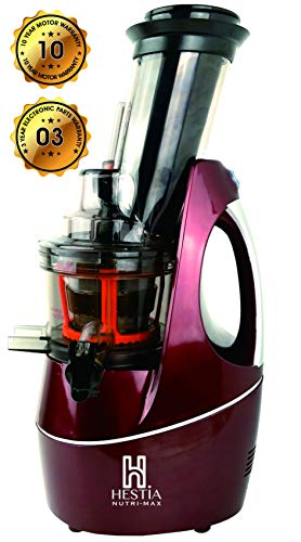 Hestia Nutri-Max Cold Press Juicer (Wine Red)