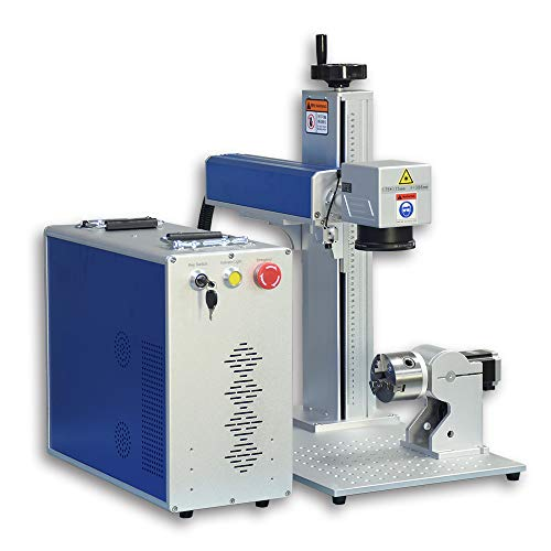US Stock 60W JPT MOPA M7 Fiber Laser Engraver Laser Marking Machine Laser Marker with 175×175mm Lens and 80mm Rotary Axis