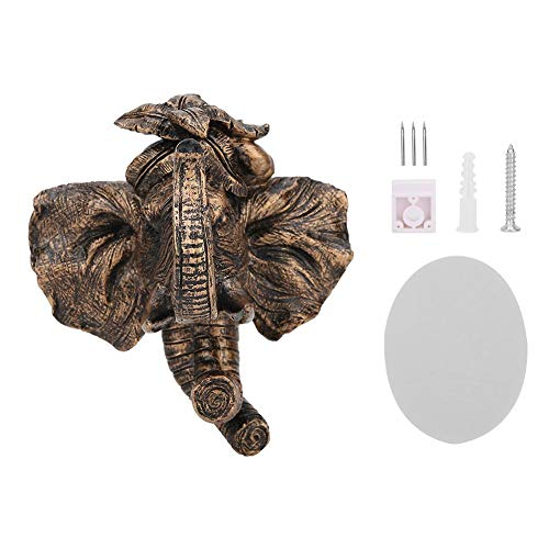 Creatieve wanddecoraties Dierenkop-vormige enkele wandhaak Hars Europese decoratieve wandhangende haak Badkamer kapstok Wanddecoratie Olifant