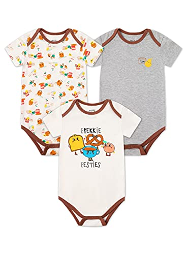Froerley Body Bebe Niño, Ropa Bebe Niños 6-9 Meses Verano, Bodies Bebe Manga Cortas, Algodón, Bebes Regalos