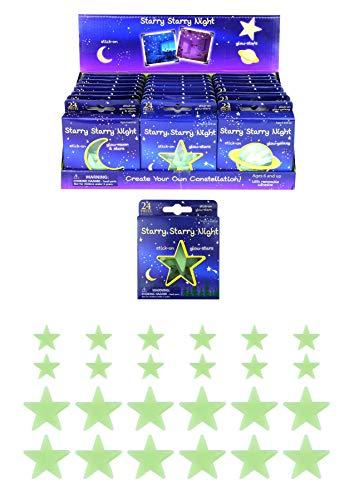 Henbrandt 24x Glow In Dark Wall Stickers Fluorescerende Sterren Maan Kids Slaapkamer Plafond Kunst