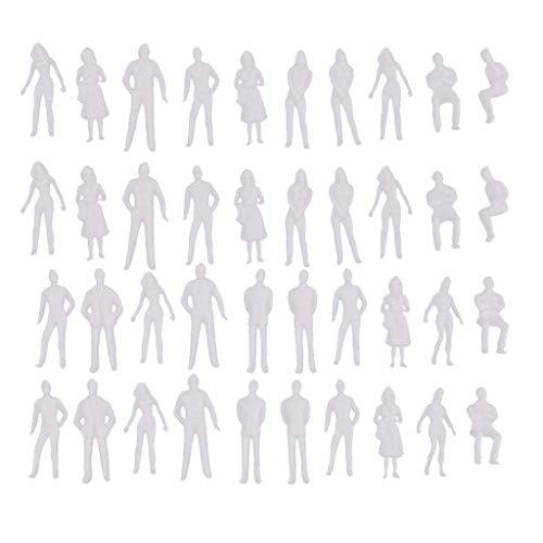 Ogquaton Figura Miniatura de 40 Piezas 1/50 Arquitectónico a Escala Humana Modelo Diorama ABS plástico Personas Muy práctico y Popular