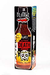 Blair's after death sauce comes with a golden skull keychain as well