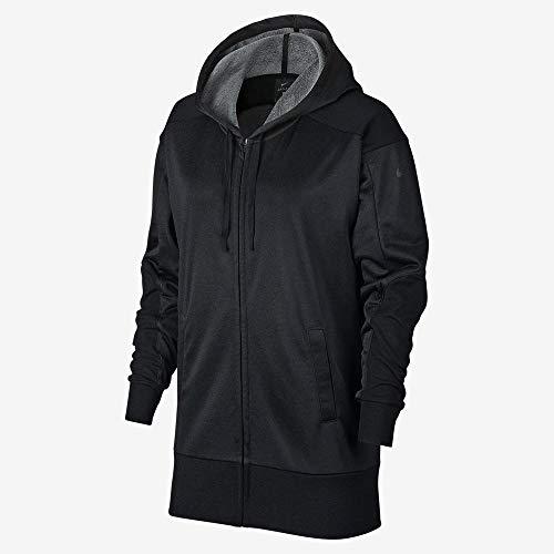NIKE Dry Full Zip Chaqueta, Mujer, Htr/Black, Large