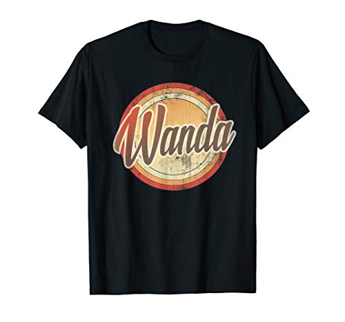 Graphic 365 Name Wanda Vintage Funny Personalized Gift T-Shirt