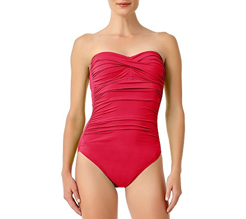 Anne Cole Women's Twist Front Shirred One Piece Swimsuit