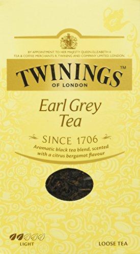 Twinings Earl Grey Tee lose in der Tee-Dose - Schwarzer Tee mit feinstem Bergamotte Aroma - erfrischender Schwarztee aus China, 200 g
