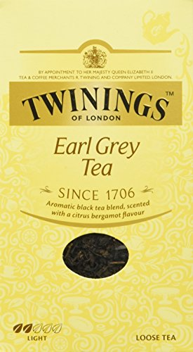 Twinings Earl Grey Schwarztee ∙ loser Tee 200g, Hochwertiger Schwarzer Tee lose ∙ Mit Bergamotte Aroma ∙ Tea 1er Pack (1 x 200 g)