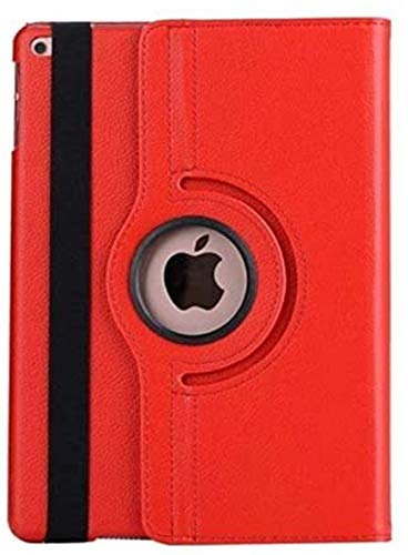 ZRH Accesorios De Pestañas para iPad 2/3/4, PU Cuero 360 Cubierta De Protector Giratorio Cubierta De Stand Stand De La Tableta + Pluma + Cubierta De Película para IPad2 iPad 3 iPad 4 (Color : Red)