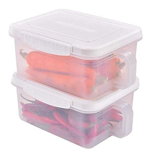 QFLY Tarros Cocina Cereales Contenedores de 2 Piezas de Fruta Tanque de Almacenamiento de plástico con Tapa Sello de la Cocina de la Caja de almacenaje Botes Cristal Cocina