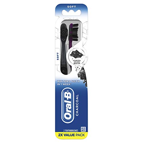 Oral-b Charcoal Whitening Therapy Toothbrush, Soft, 2 Count