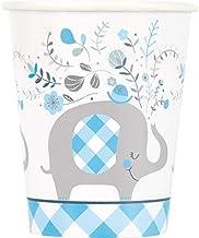أكواب ورقية برسمة فيل زهري اللون I للاستعمال مرة واحدة من 8 قطع