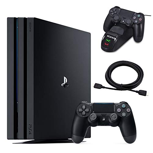 NexiGo 2020 Newest Holiday Christmas Bundle PS4 Pro Console 1TB HDD + Controller Charging Station + 4K HDMI Cable Bundle 6FT