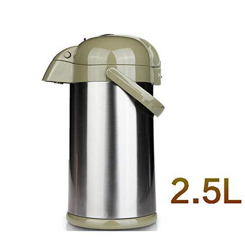 Jingyinyi pneumatische thermoskan, huishoudelijke isolatie pot, grote capaciteit thermoskan, waterfles duurzaam, Groen