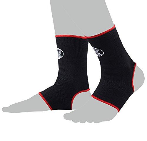 BAY® 2X elastische Fußbandagen, Fußgelenkbandagen, schwarz, Größe XS