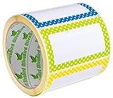 Etiquetas Adhesivas Con El Nombre Del Punto 300 Etiquetas Con Bordes De Colores, Colores Surtidos (3 Colores), Tamaño 90x50 Mm